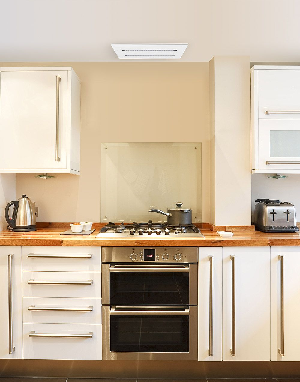 Lux Air LA350CE 35cm Ceiling Cooker Hood in Black, Stainless Steel or White 480m3hr Ducting Out Only